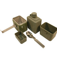 COMPLETE Army Canteen With Knife Fork Spoon + Water Bottle + Mess Tin KFS Cadet