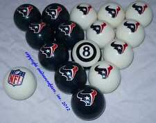 NEW Licensed NFL Houston Texans Football Billiard Pool Cue Ball Set FREE SHIP