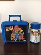 Vintage 1991 Plastic Lunchbox James Bond Jr w/ Thermos & original tag,