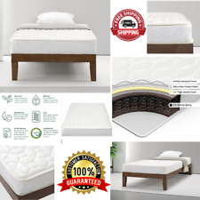 6 Inch Comfort Bunk Bed Mattress Twin Size Innerspring Heavy Duty Coil Mattress