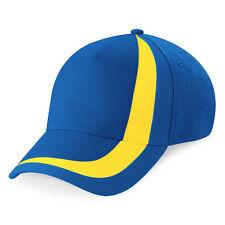 Casquette SPORT marque Beechfield Euro football nation SUEDE bleu jaune