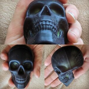 Bleeding/Oozing Skull Candle Palm Sized. Pagan Wiccan Goth Beckwitch Spells