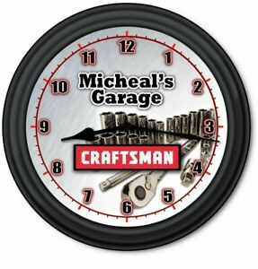 Craftsman Tools PERSONALIZED Wall Clock - Work Shop Man Cave Garage  GREAT GIFT