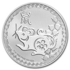 2020 Niue 1 oz Silver $2 Lunar Year of the Rat BU w/ capsule