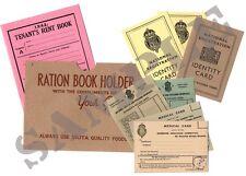 WW2 HOME FRONT Document Set - (Exact Copies) - FREE P&P