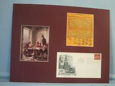 Thomas Jefferson writes The Declaration of  Independence plus First day Cover