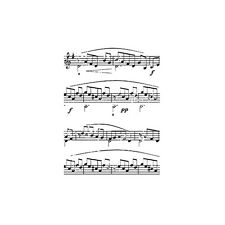 MUSICAL NOTES - First Edition/IndigoBlu A7 Rubber Stamp