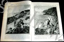 Gallipoli 1915 Anzac Wounded & Bathing Soldiers Pictorial Turkish Fighter Photos