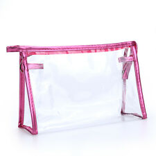 Clear Comestic Bag Transparent Travel Make Up Bags Toiletry Storage Zipper Pouch