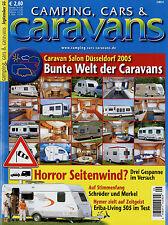 Camping Cars Caravans 9/05 2005 Hymer Eriba Living 505 TEC Travel King 430 TE Tu