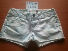 SO HERITAGE LOW RISE CUT OFF SHORTS WHITE WITH FADED BLUE FLOWERS SIZE 0 # 1600
