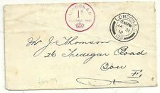 1912 JAN 31  LONDON EC WILKINSON 1d IN THE SLOT MACHINE CANCEL ON COVER TO BOW