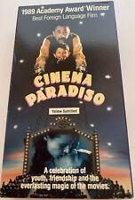 New listing Cinema Paradiso (Vhs, 1990, Subtitled English) 1989 Academy Award Winner