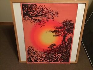 """1970 McCULLY & McCULLY SYNTHETIC TRIPS """"IN THE EVENING"""" BLACK LIGHT POSTER"""