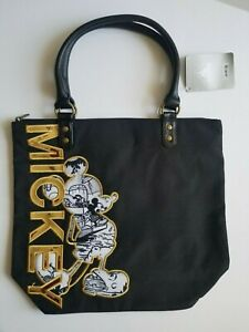 Disney Store Black and Gold Mickey Tote Bag NWT