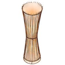 Handmade Fair Trade Round Cut Bamboo Floor Lamp - RT-72-100-Brown