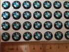 11MM BMW CAR BADGE DECAL LOGO EMBLEM E30 E32 E21 E28 E36 E46 KEY FOB STICKER