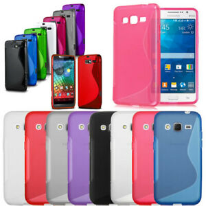 S-Line Shockproof Rubber Gel Case Cover For Samsung iPhone Sony Xperia Huawei