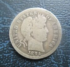 More details for 1894-o usa silver barber dime, 10 cents, low mintage year 720k