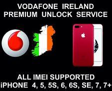Vodafone Ireland Premium Unlock Service, fits iPhone 4, 5, 6, 6S, SE, 7, 7+
