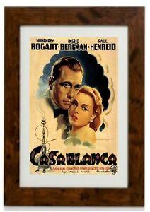 Casablanca 1942 Humphrey Bogart Ingrid Bergman Movie Poster Framed Print