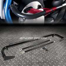 "49"" STAINLESS STEEL RACING SAFETY SEAT BELT CHASSIS ROLL HARNESS BAR ROD BLACK"