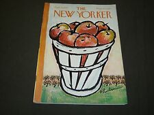 1967 SEPTEMBER 30 NEW YORKER MAGAZINE- BEAUTIFUL FRONT COVER FOR FRAMING- O 5153