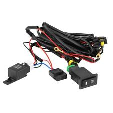 Universal Car LED Fog Light On/Off Switch Wiring Harness Fuse Relay Kit 12V