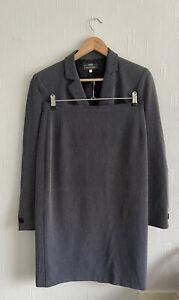M&S Tailoring Size 14 2 Piece Suit Set Blazer And Pencil Skirt Navy Mix