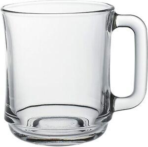 Duralex Versailles Clear Mug 31cl , LARGE Pack of 6 Glass Mug - Shock Proof