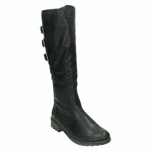 REMONTE R3370 LADIES ZIP UP WOOL LINED CASUAL WINTER BIKER LONG BOOTS SHOES