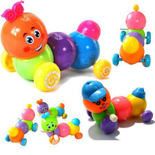 HOT Nestly Colorful Caterpillars Inchworm Twist Forward Movement Clockwork Toys