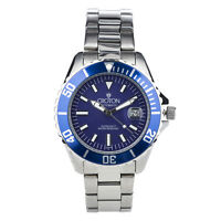 Croton Men's CA301294BUBL Automatic Blue Dial Silver-Tone Bracelet 42mm Watch