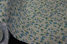 """12 Yards Blue Green Flowers Print Quilt Fabric Apparel Upholstery 45"""" Wide #102"""
