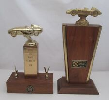 2  RACE CAR TROPHIES: GHOST CITY HILL CLIMB, JEROME ARIZONA, PHOENIX CHAPTER