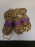 Neta Yarns Sis knitting worsted yarn, light brown, lot of 5 (93 yds each) NOS