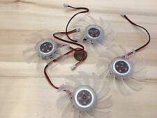 4 Pieces Clear FAN 12V 2Pin PC Video Graphics Card VGA Cooler Cooling 65mm C24