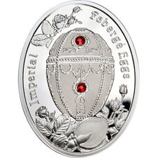 Rosebud Egg Imperial Faberge Eggs Proof Silver Coin 1$ Niue 2012