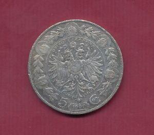 "1907; Österreich ""5 Kronen"" Silbermünze PR1202 , ANK Nr.71 , Erh. ss-vz"