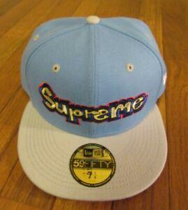 Supreme Gonz Logo New Era Hat Cap Size 7 1/4 Light Blue SS21 Mark Gonzales 2021