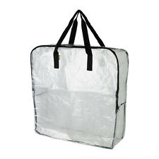 IKEA DIMPA Storage Shopping Bags Clear StrongHeavy Duty  Reusable w/ Zipper