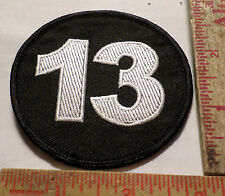 "Vintage ""13"" patch old motorcycle collectible biker vest sew-on emblem"