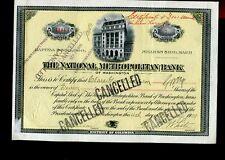 ACTION THE NATIONAL METROPOLITAN BANK DISTRICT COLUMBIA 1909 7 SHARES