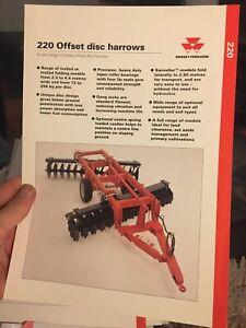 Massey Ferguson MF 220 offset disc harrow tractor brochure 1996