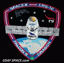 NEW CRS-12 - SPACEX ORIGINAL FALCON-9 DRAGON F-9 ISS NASA RESUPPLY Mission PATCH
