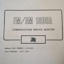 IFR FM/AM 1000A Monitor Service Manual