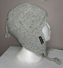 Wool Ear Flap Ski Cap One Size Fits Most Bheda Hat Sheep Wool Lined Nwt