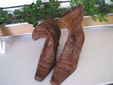 Stiefeletten / Stiefel / Boots - Gr.38 - Damenschuhe - braun - Animalprint
