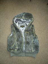 LADIES VICKY SMITH GREY FAUX FUR GILET SIZE L