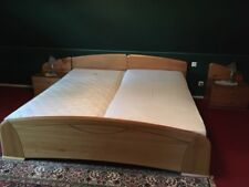 Doppelbett 200x200cm, Erle massiv, mit 2x Lattenrost, Bett, Holz